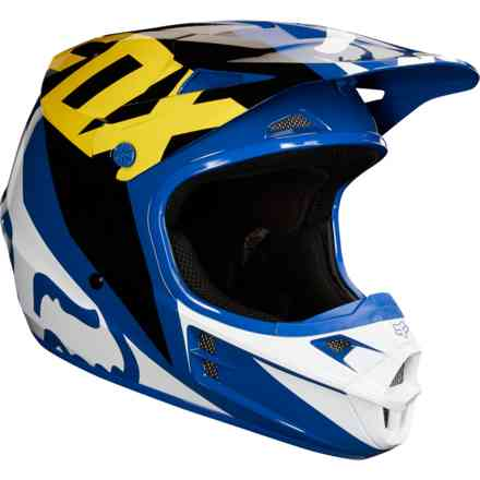 Casco Fox  V1 Race Blu- Nero Fox