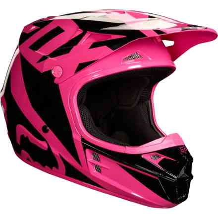 Casco Fox  V1 Race Rosa - Nero Fox
