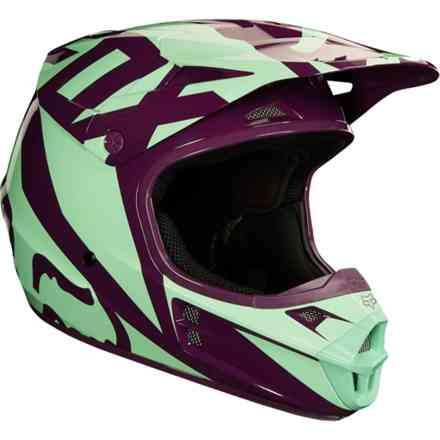 Casco Fox  V1 Race Viola - Verde Acqua Fox