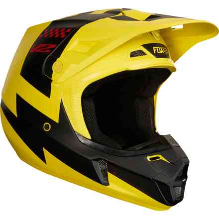 Casco Fox V1 V2 Mastar  Giallo Fox