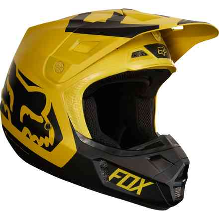 Casco Fox  V2 Preme  Giallo Scuro Fox