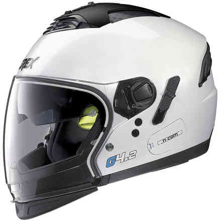 Casco G4.2pro Kinetic N-Com bianco metal Grex