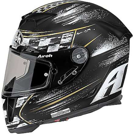 Casco Gp500 Check nero opaco Airoh