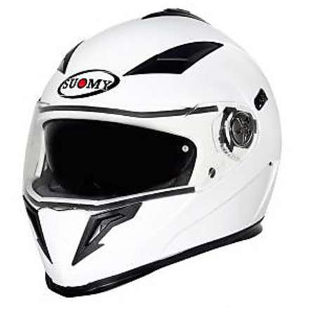 Casco Halo Plain White Suomy