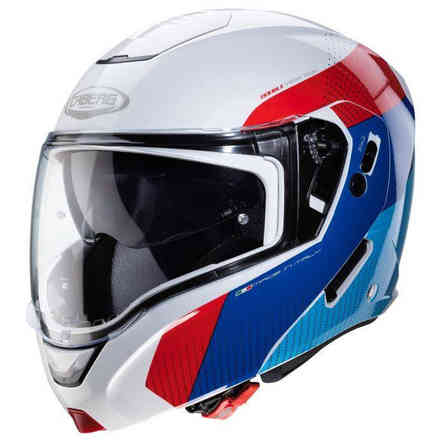 Casco Horus Scout Wht Metal/Red/Blue/Light Blu Caberg