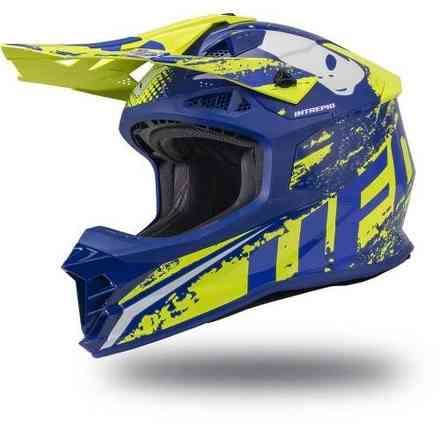 Casco Intrepid Blu-Giallo Ufo