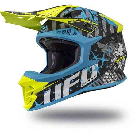 Casco Intrepid Giallo Blu Nero Ufo