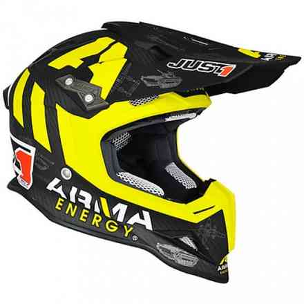Casco J12 Arma Energy Nero-Giallo Just1