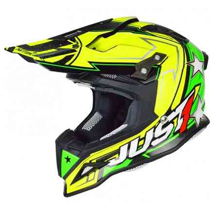 Casco J12 Aster Giallo-Verde Just1
