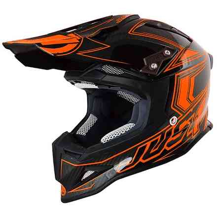 Casco J12 Carbon Arancione Just1