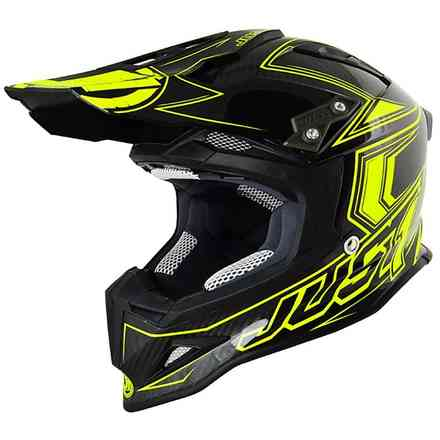Casco J12 Carbon Giallo-Nero Just1