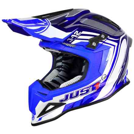 Casco J12 Flame Blu Just1