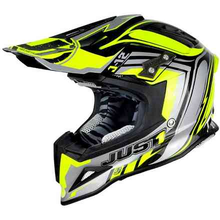 Casco J12 Flame Giallo-Nero Just1