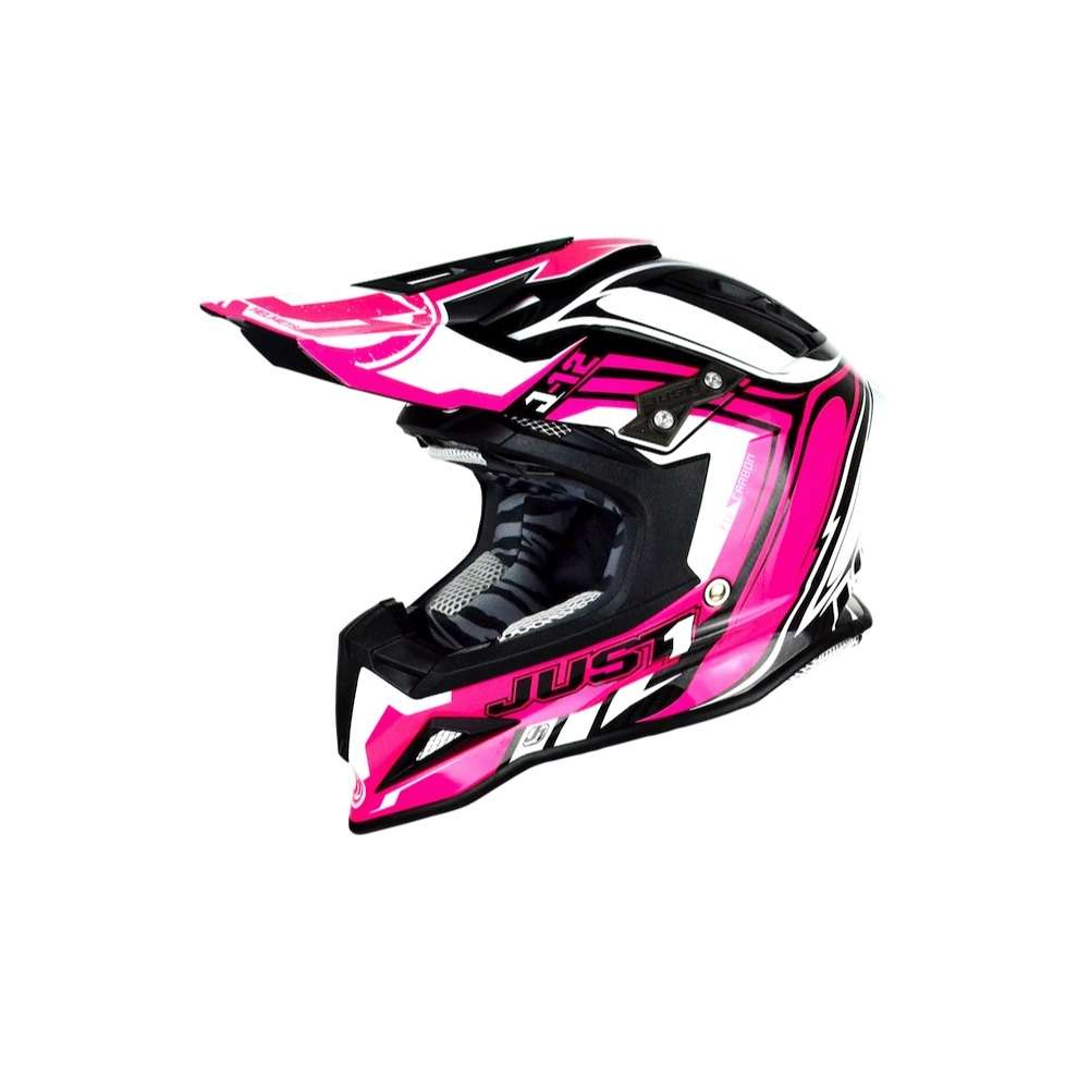 Casco J12 Flame Rosa Just1