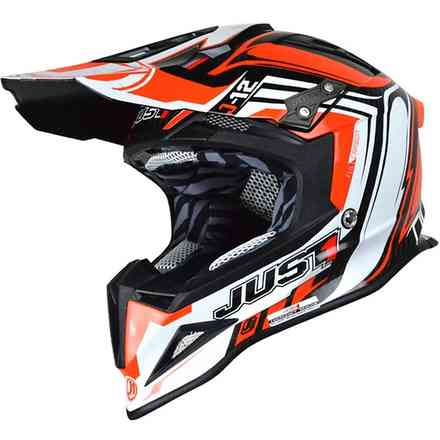 Casco J12 Flame Rosso Just1