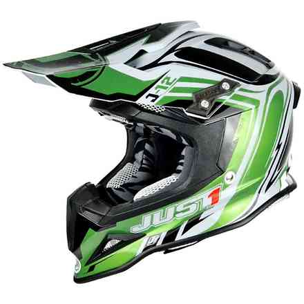 Casco J12 Flame verde-Nero Just1