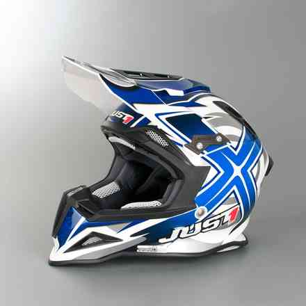 Casco J12 Mister X Blu Just1