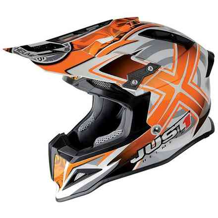 Casco J12 Mister X Carbon Arancione Just1