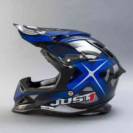 Casco J12 Mister X Carbon Blu Just1