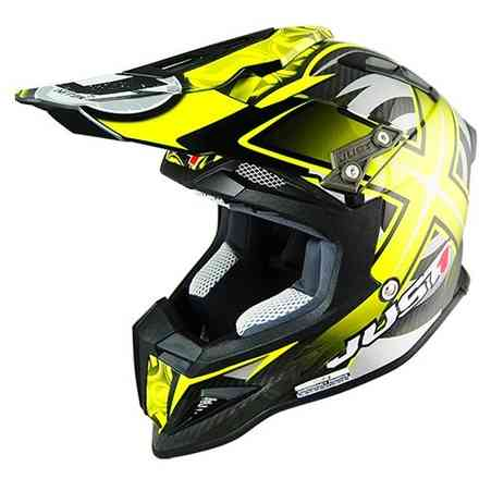 Casco J12 Mister X Carbon Giallo Just1