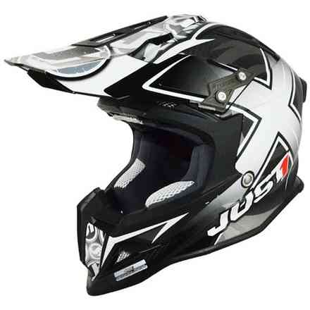 Casco J12 Mister X Carbon Nero  Just1