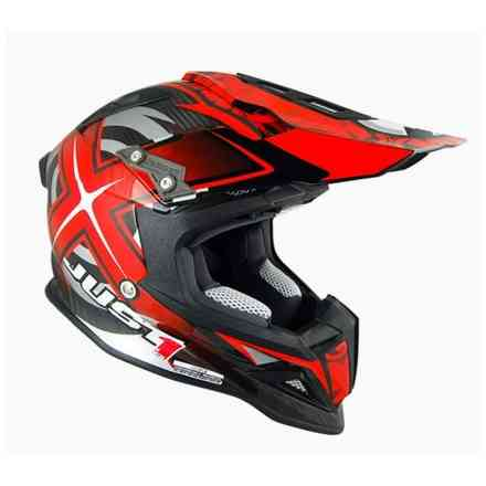 Casco J12 Mister X Carbon Rosso Just1