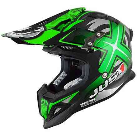 Casco J12 Mister X Carbon Verde Just1