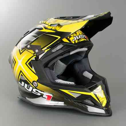 Casco J12 Mister X Giallo Just1