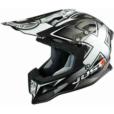 Casco J12 Mister X Nero Just1