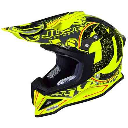 Casco J12 Stamp Giallo Fluo Just1