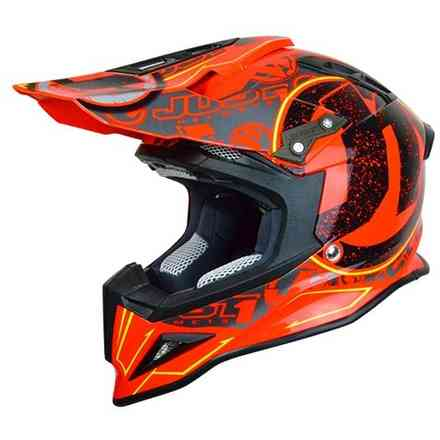 Casco J12 Stamp Rosso Fluo Just1