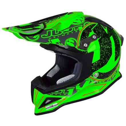 Casco J12 Stamp Verde Fluo Just1