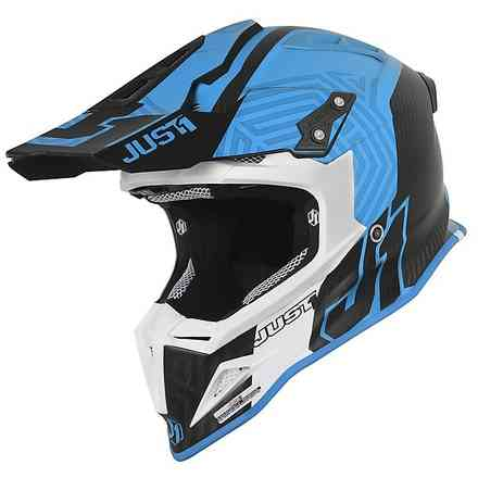 Casco J12 Syncro Carbon Blu Just1