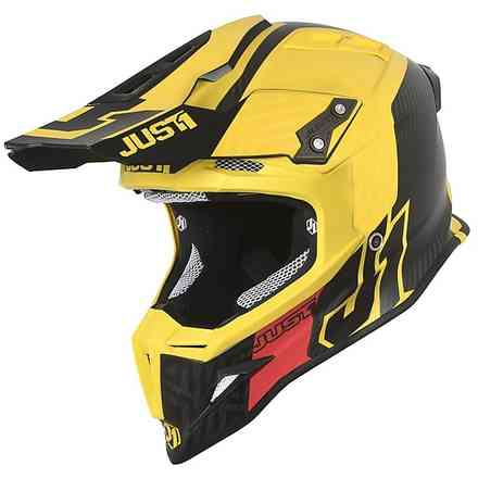 Casco J12 Syncro Carbon/ Giallo Just1