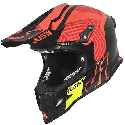 Casco J12 Syncro Carbon/ Rosso Just1