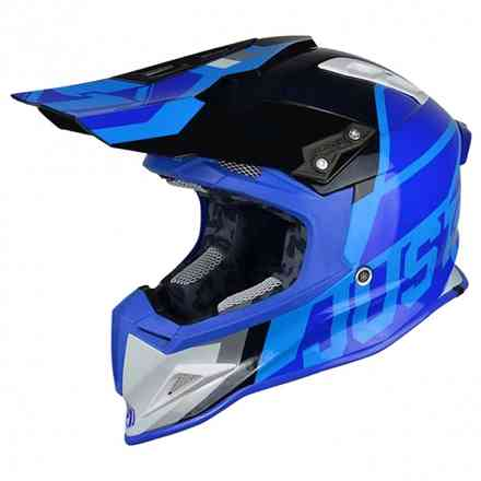 Casco J12 Unit Bianco Blu Just1