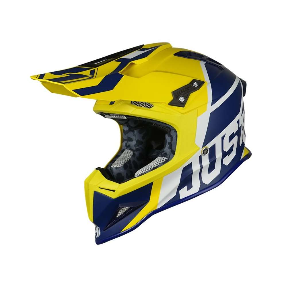 Casco J12 Unit blu giallo Just1