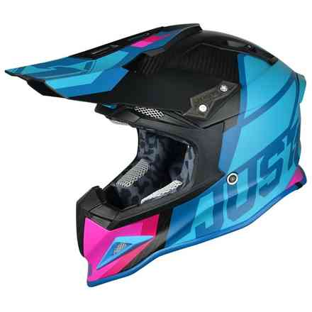 Casco J12 Unit blu rosa Just1