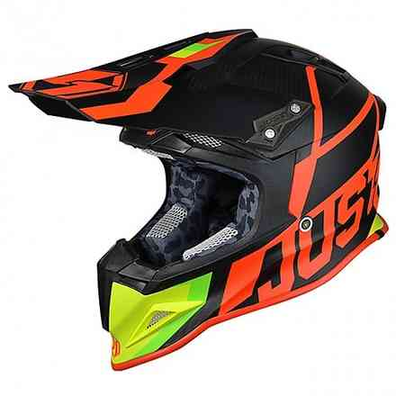 Casco J12 Unit rosso lime Just1