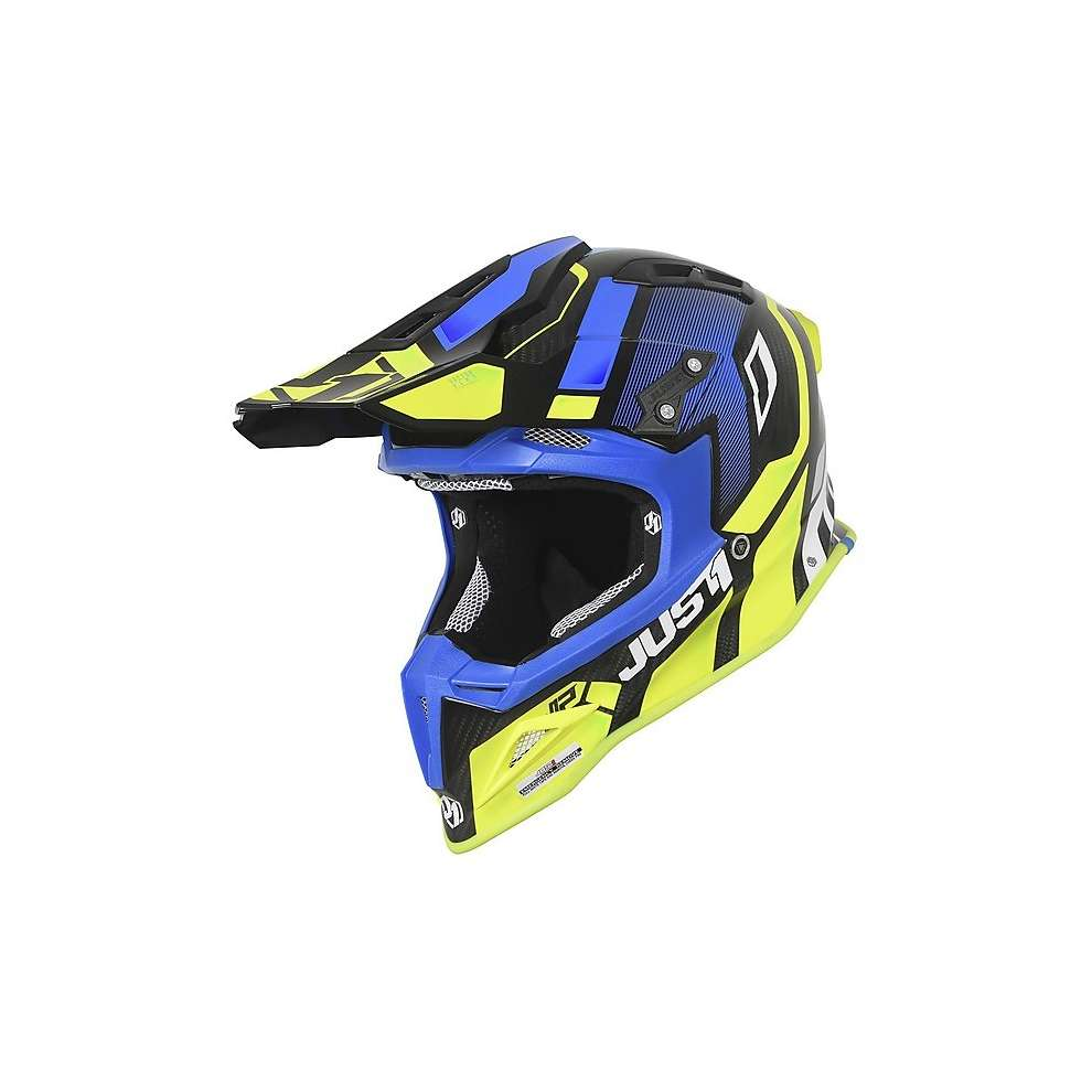 Casco J12 Vector Rosso/ Lime/ Carbon Just1