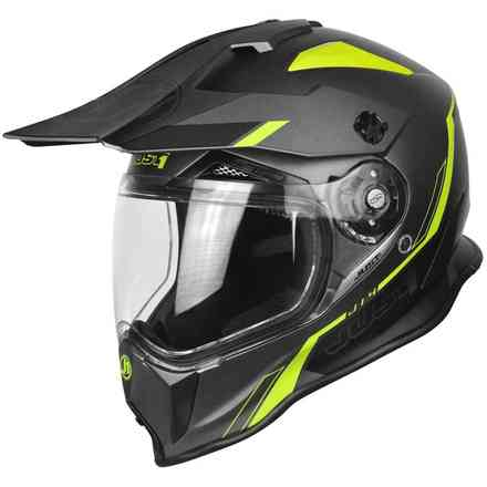 Casco J14 Line Fluo Giallo/Carbon  Just1