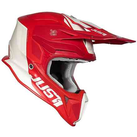 Casco J18 Pulsar Rosso-Bianco Just1