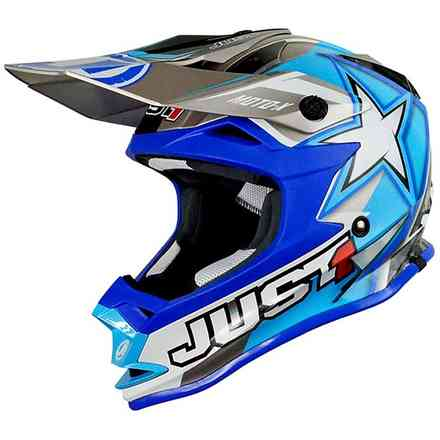 Casco J32 Moto X Blu Just1