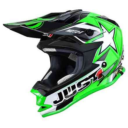 Casco J32 Moto X verde Just1