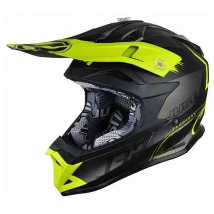 Casco J32 Pro Kick Giallo Nero Titanium Just1