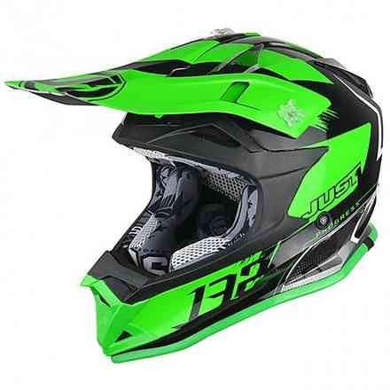 Casco J32 Pro Kick Verde titanio Just1