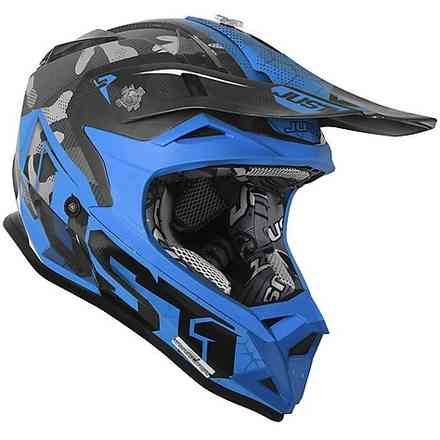 Casco J32 Pro Swat Camo Blu fluo-Nero Just1