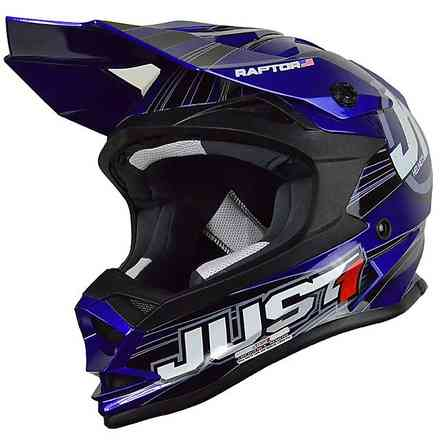 Casco J32 Raptor Blu Just1
