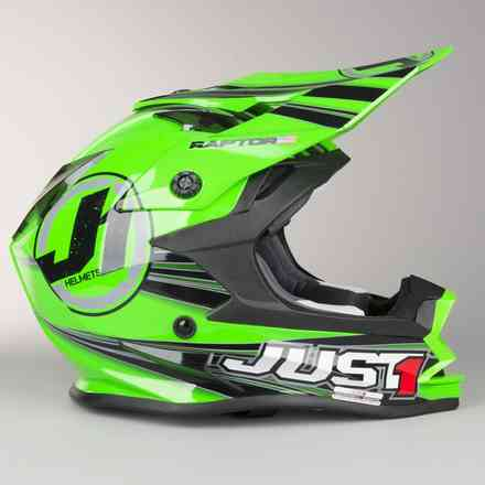 Casco J32 Raptor Verde Just1