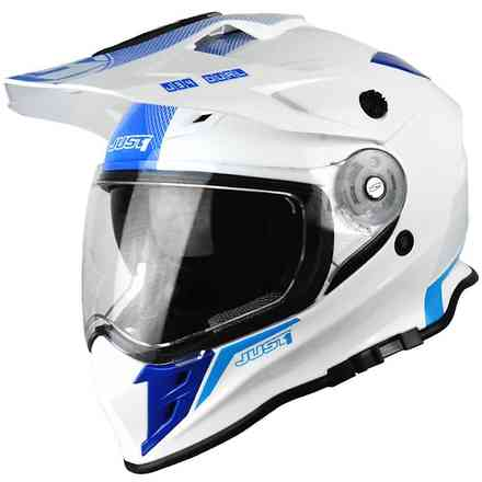 Casco J34 Shape Neon Blu Just1